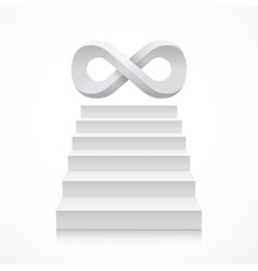 Stairs with infinity symbol on top vector