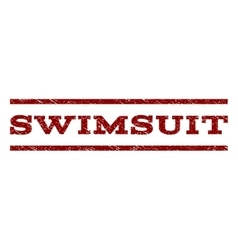 Swimsuit watermark stamp vector