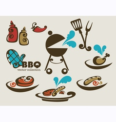 traditional american barbeque vector image vector image