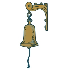 Vintage ship bell vector