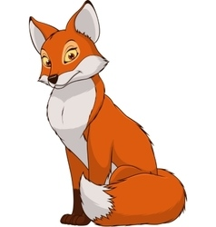 Adult funny fox vector