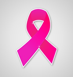Breast cancer ribbon pink symbol vector