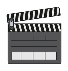 Isolated clapboard design vector