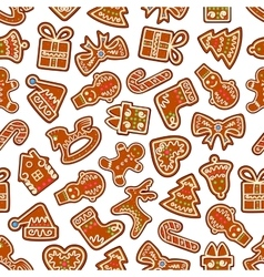 Christmas cookies and biscuits seamless background vector