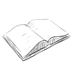 Open book sketch icon vector image