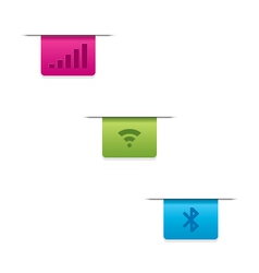 Wifi bluetooth signals icons vector