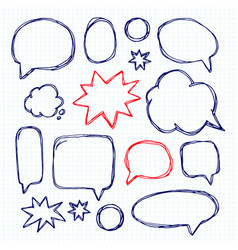 Set picture blank template comic text speech chat vector