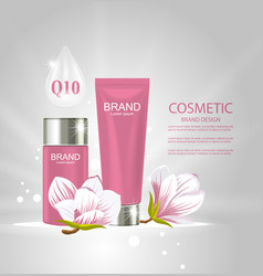 Design poster for cosmetics product advertising vector