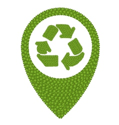 Green clover of recycle icon in navication icon vector