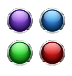 Abstract empty glossy buttons vector image