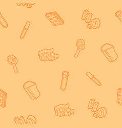 Chemical outline isometric pattern vector