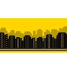 Yellow city backdrop vector