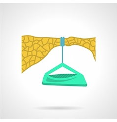 Flat color icon for dangle camp vector