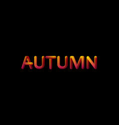 3d gradient autumn season sign vector