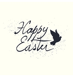 Calligraphic easter lettering vector