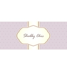 Shabby chic card design provence style vector