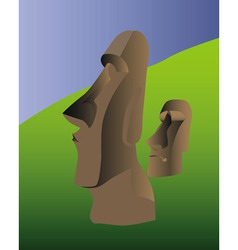Easter island idol vector