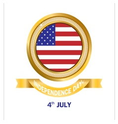 Banner gold american independence day vector