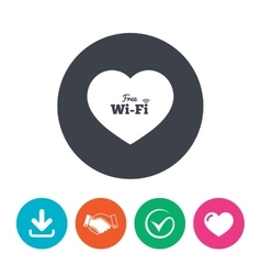 Love free wifi sign wifi symbol vector