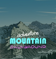 Mountain backgrounds vector