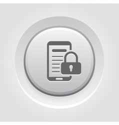 Mobile security icon vector