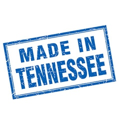 Tennessee blue square grunge made in stamp vector
