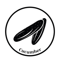 Cucumber icon vector