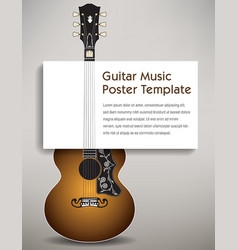 a guitar with a poster board in its strings vector image vector image