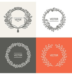 Abstract logo design templates with copy space vector