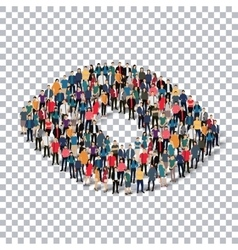 abstract Transparency symbol people vector image