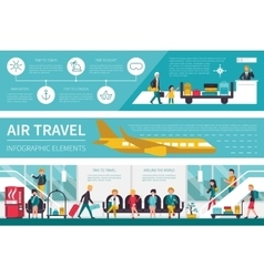 Air travel infographic flat vector