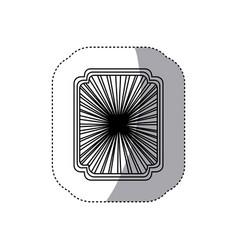 art deco pattern icon vector image vector image