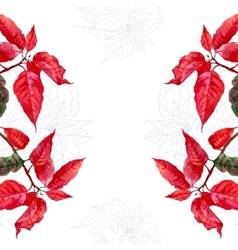 Background with bouquet of red poinsettia-02 vector