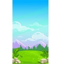 Beautiful mountain meadow landscape vector image vector image