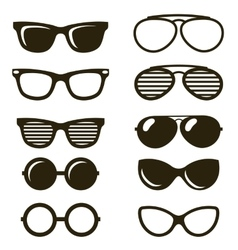 Black sunglasses set vector