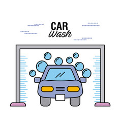 car wash clear auto shampoo water bubble vector image