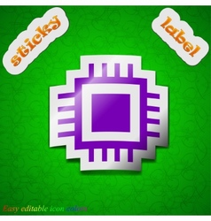 Central Processing Unit icon sign Symbol chic vector image