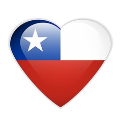 Chile flag button vector image