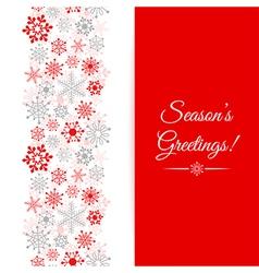 Christmas greetings card Border Christmas seamless vector image vector image