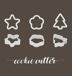 Cookie cutter in various style vector