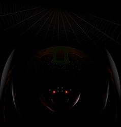 dark spider vector image