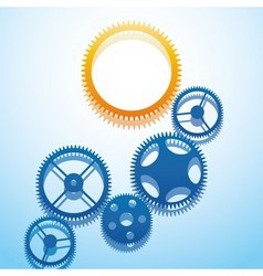 Design with gears vector image vector image