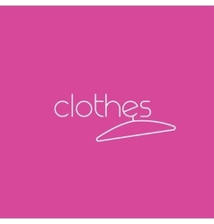 Fashion logo clothing concept with clothes vector