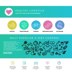 Fitness gym cardio healthy lifestyle health vector image vector image