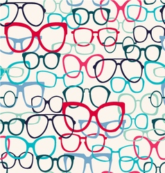 glasses pattern Sunglasses Silhouettes vector image vector image