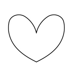 Line cute heart to love symbol design vector