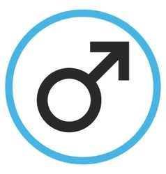 Male Symbol Flat Rounded Icon vector image vector image