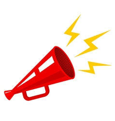 megaphone new retro red vector image