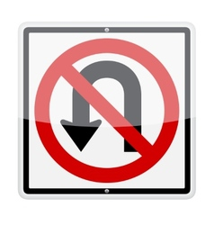 No U-Turn Sign vector image vector image