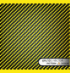 pattern seamless carbon fiber yellow under vector image